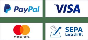 Paypal, Kreditkarte oder Lastschrift