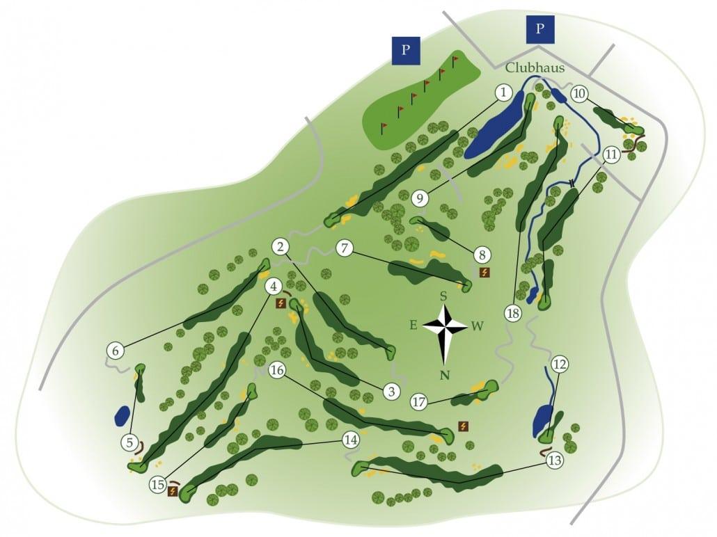Golfplatz Übersicht